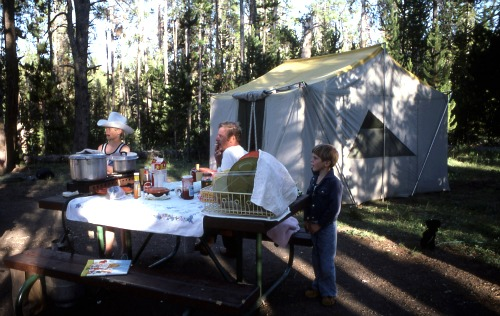 I love this NPS photo from the 70s (?) of the Indian Creek campground so much.