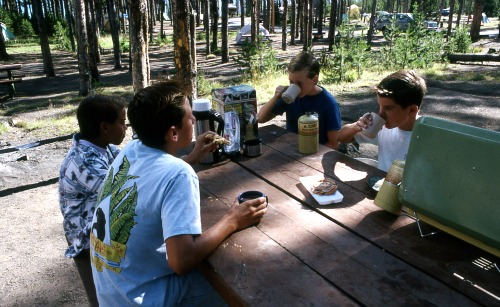 Four random 80s kids at Grant Campground. NPS photo.