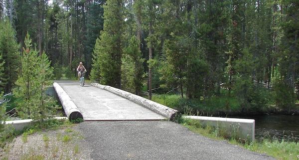riding bikes in yellowstone