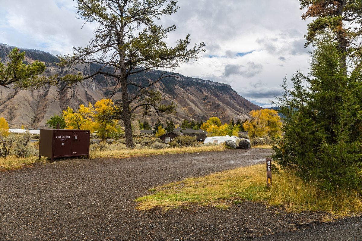 Mammoth Campground in Yellowstone National Park in Wyoming, United States