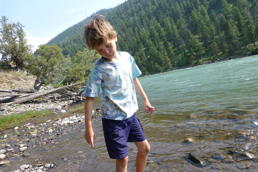 Anders in yellowstone river