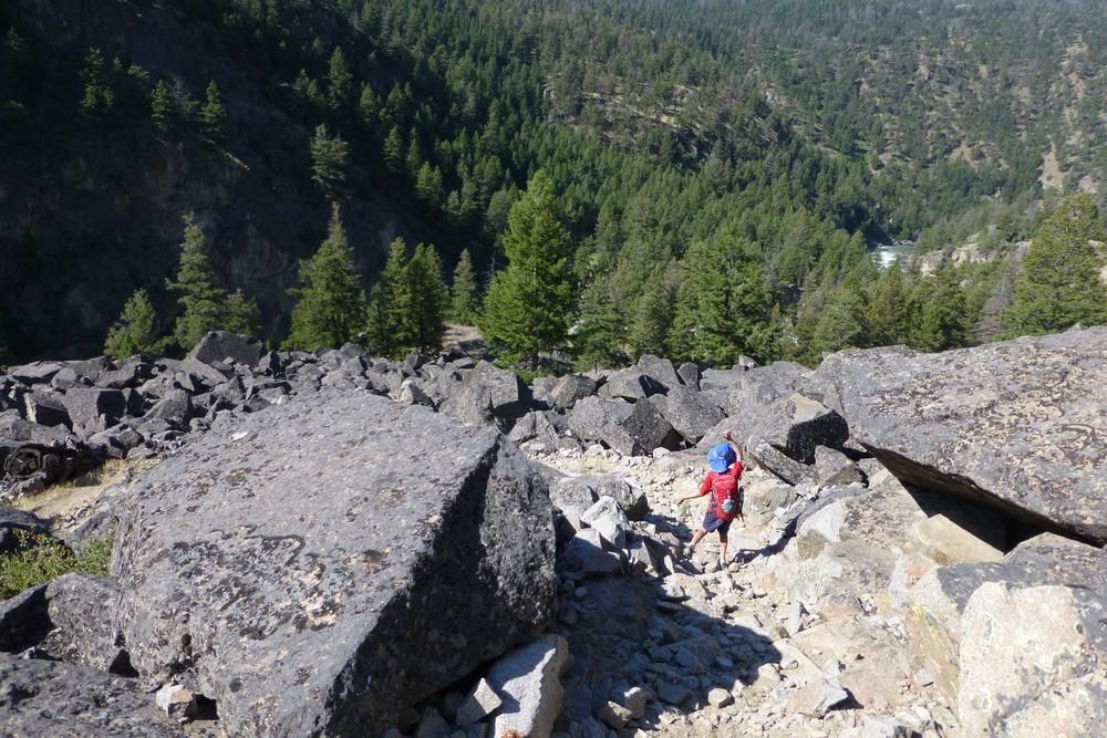 Anders in boulder field