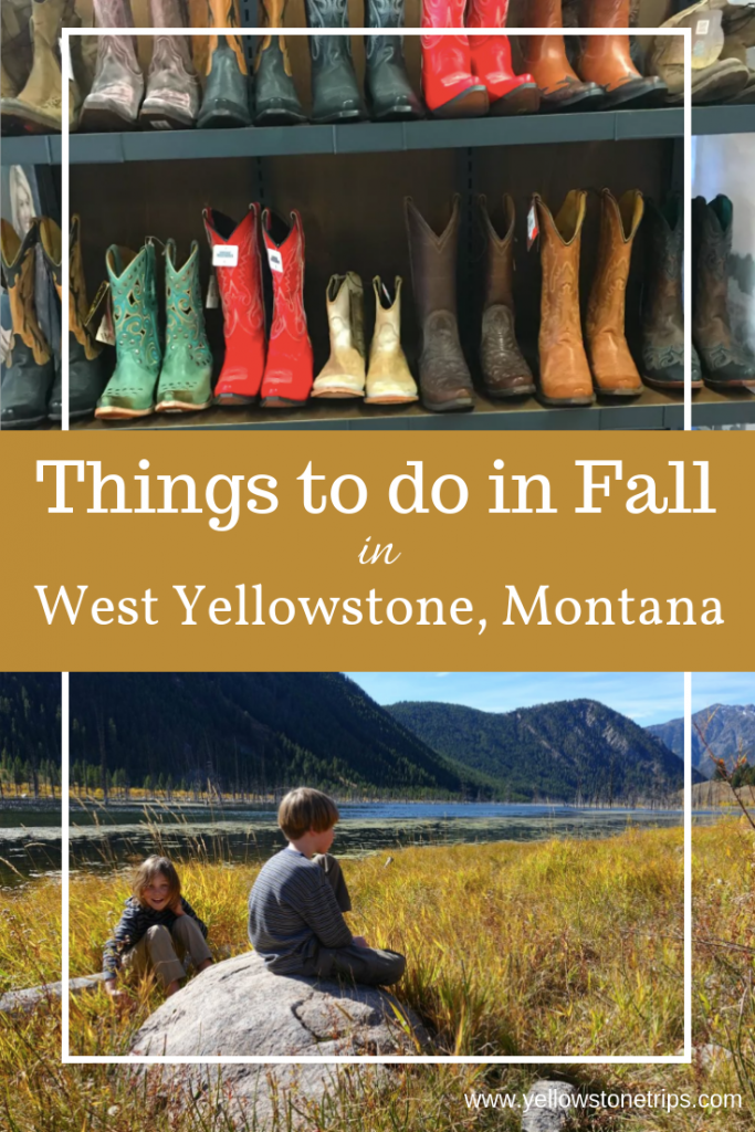 Five fun things to do in West Yellowstone, Montana in autumn (or any time of year), plus one bonus activity! Family travel and outdoor adventure near Yellowstone National Park.