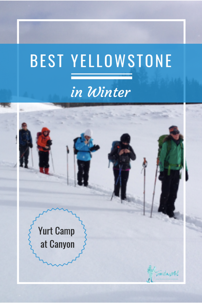 How to have the best Yellowstone National Park vacation in winter: Stay at a cozy yurt camp, use the sauna, and cross-country ski and snowshoe.