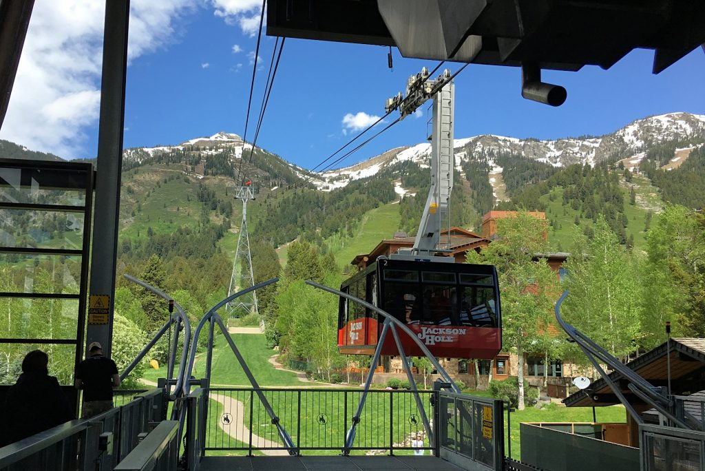 Jackson Hole tram at Jackson Hole Mountain Resort