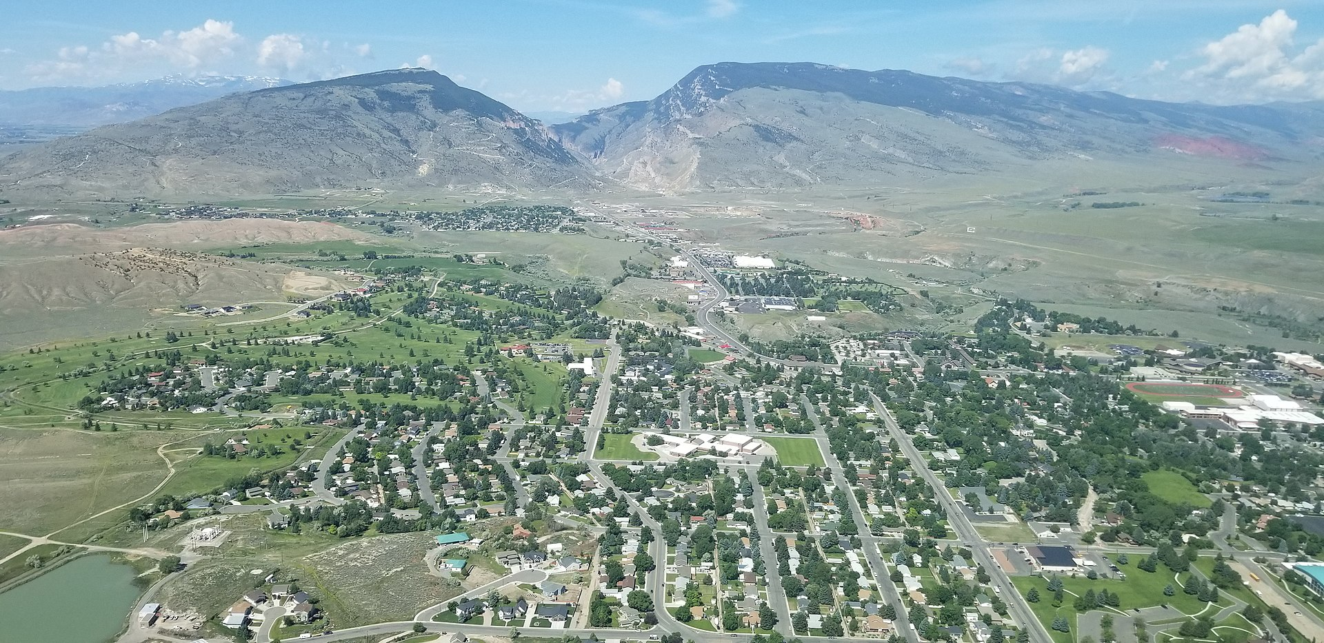 Aerial view of Cody Wyoming