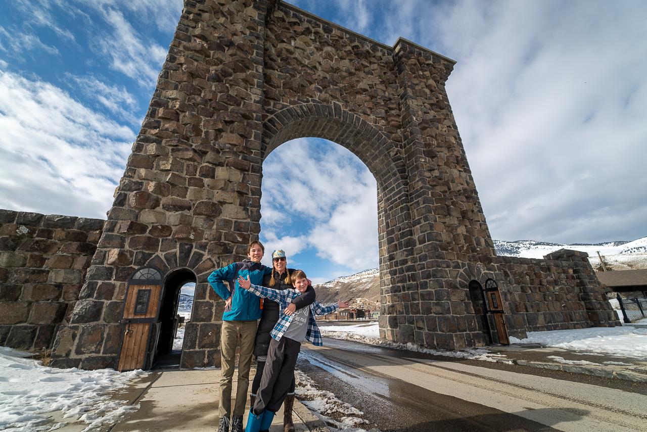 Yellowstone Roosevelt Arch in Gardiner Montana