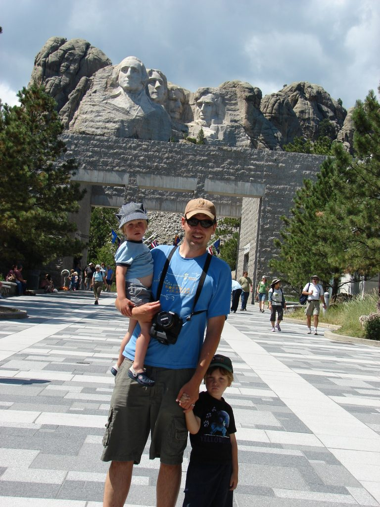 family trip to mt rushmore