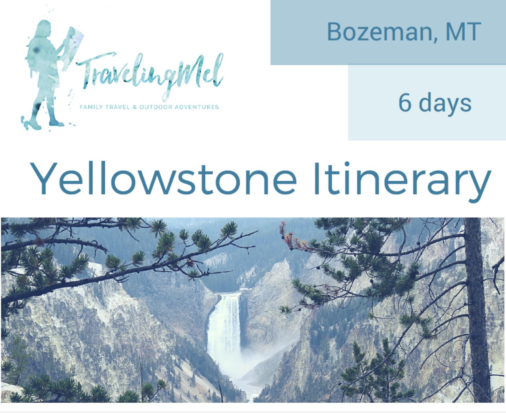 Six-Day Yellowstone National Park Itinerary