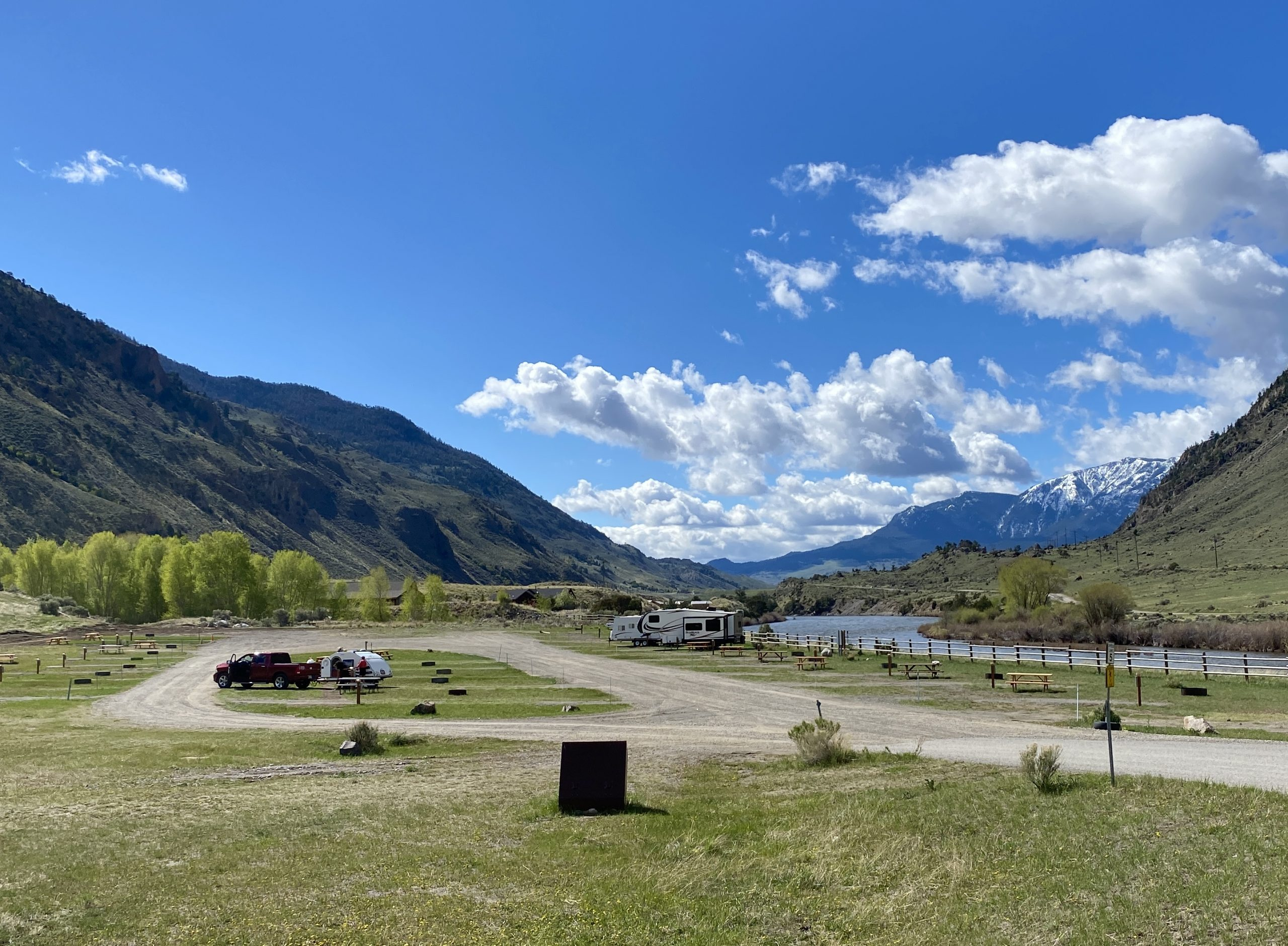 RV Campground at Yellowstone Hot Springs